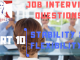 Job Interview Tips Part 10 Stability and Flexibility