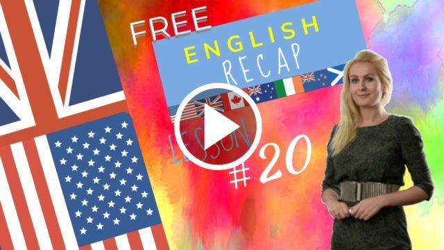 Recap English 20