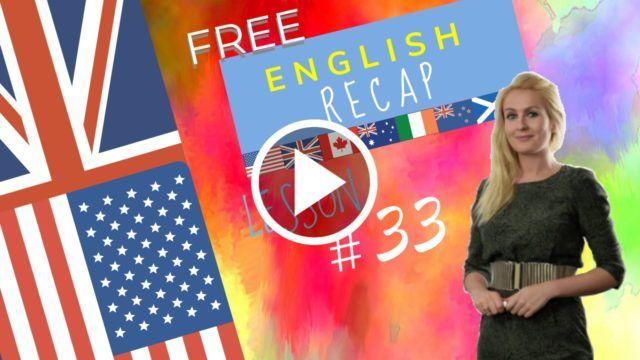 Recap English 33