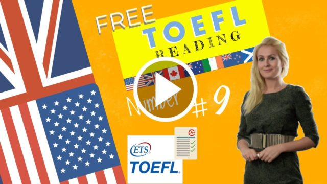Here are some toefl reading comprehension practise questions.