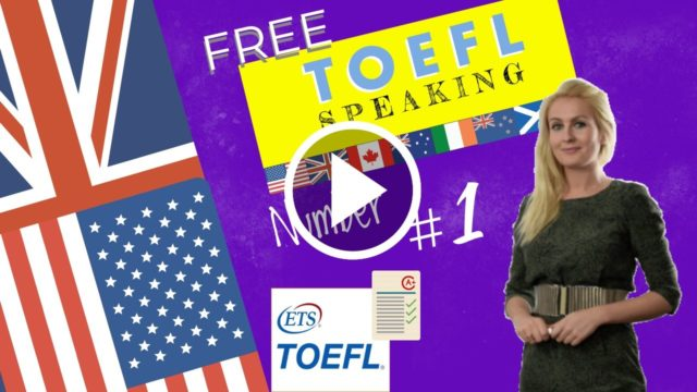 The first lesson in the TOEFL TEST course