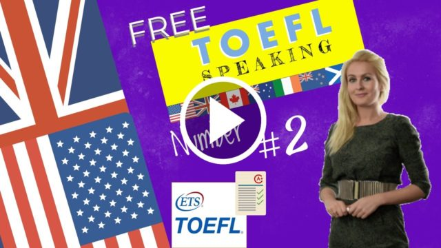 A toefl test example with exercises.