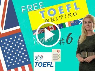 A standard TOEFL Writing template to use in the TOEFL exam