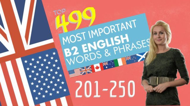 499 most important words for B2 level Part 5