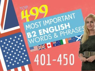 499 most important words for B2 level Part 9