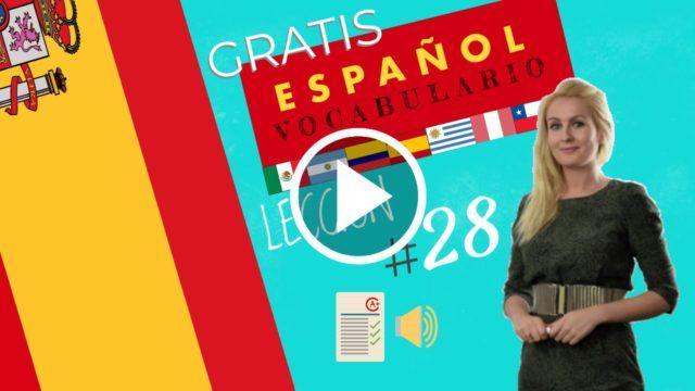 Curso español gratis vocabulario 28