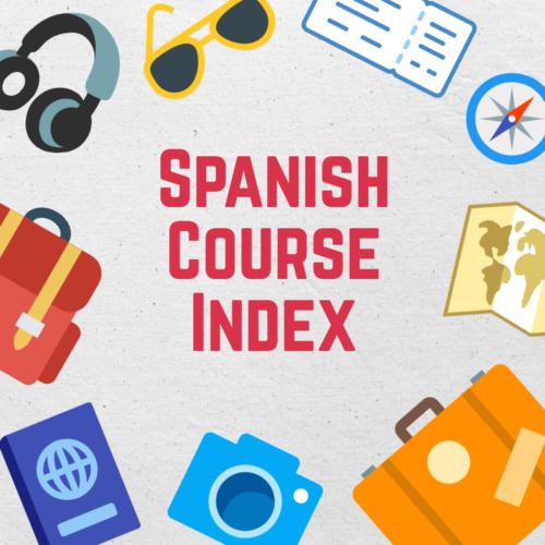 Spanish Course Index