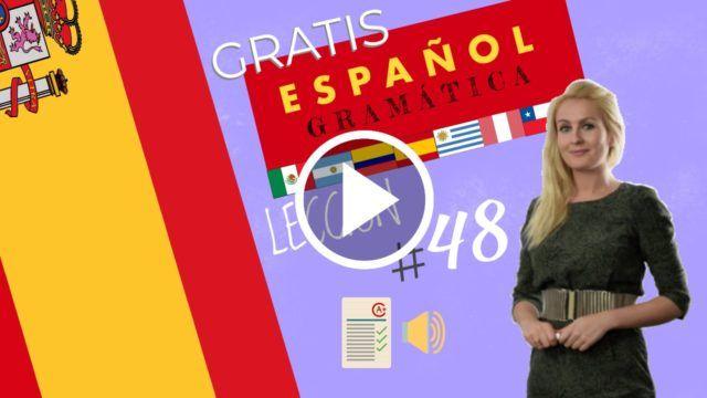 Curso  español gratis gramática 48