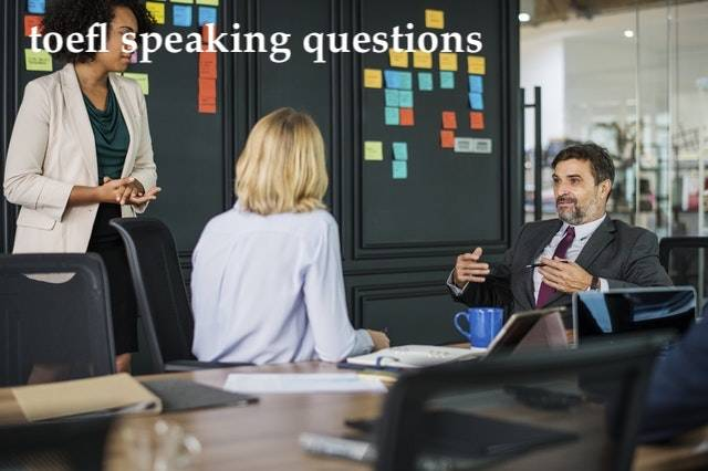toefl speaking questions