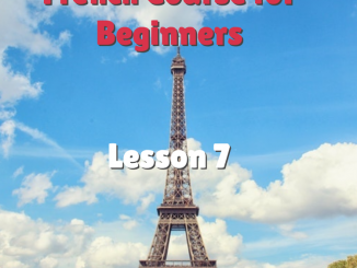How to say The in french