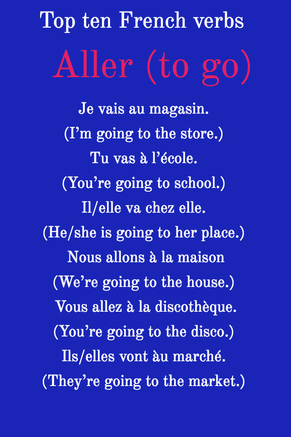 The verb aller in French