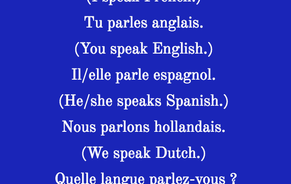 the verb parler in french